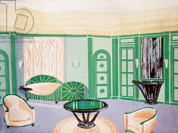 Project room for ladies, 1925, By Andre Groult (1884-1966), From Arts de la Maison, France, 20th century