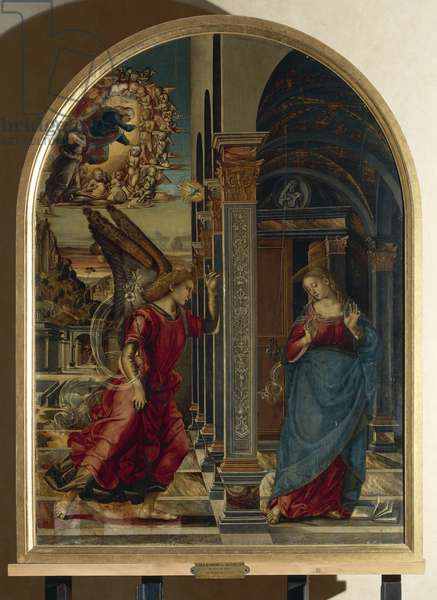 The Annunciation, 1491 (tempera on panel)