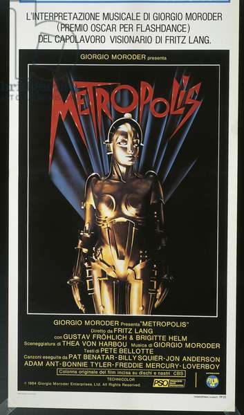 Poster for Fritz Lang's film 'Metropolis' (colour litho)