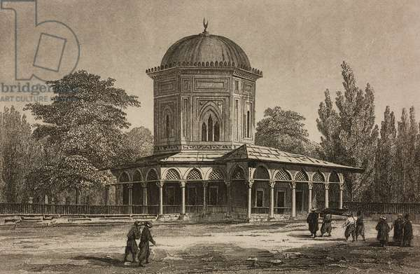 Tomb of Suleiman Magnificent, Istanbul, Turkey, engraving by Lemaitre and Arnout, from Turquie by Joseph Marie Jouannin (1783-1844) and Jules Van Gaver