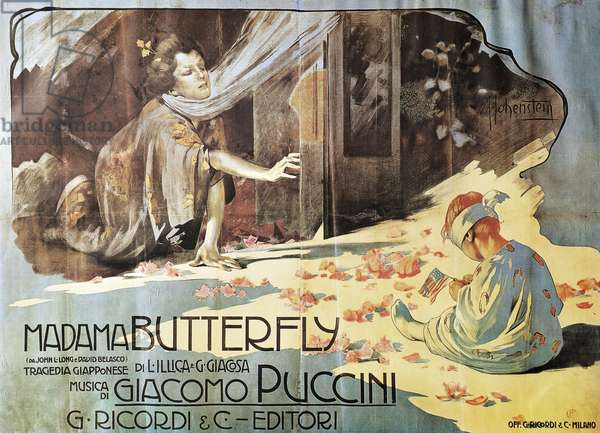 Poster for Madame Butterfly, opera by Giacomo Puccini (1858-1924)