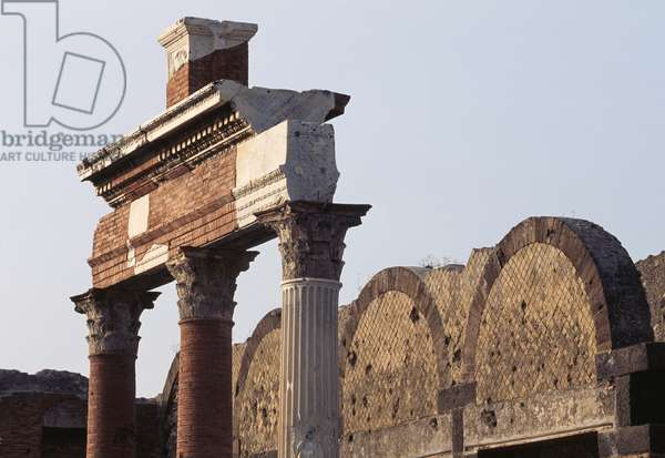 Macellum shops, northern sector of Forum of Pompeii (UNESCO World Heritage Site, 1997), Italy, Roman civilization, 3rd century BC-1st century AD