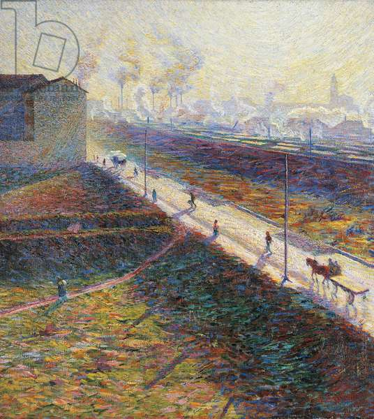 The Morning by Umberto Boccioni (1882-1916), oil on canvas, 60x55 cm, 1909
