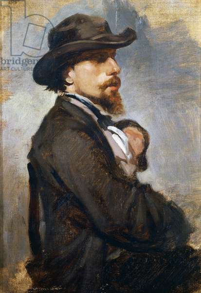 Portrait of the Italian painter Vincenzo Cabianca (1827-1902), 1865, by Giovanni Boldini (1842-1931), oil on canvas, 35x25 cm, Italy, 19th century