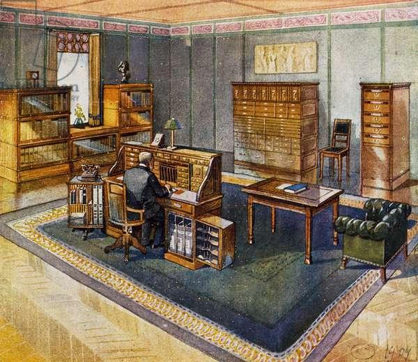 Study, 1901, by Henry Van De Velde (1863-1957), Belgium, 20th century