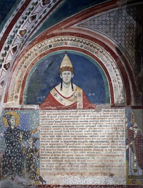 Pope Innocent III, fresco, 13th century