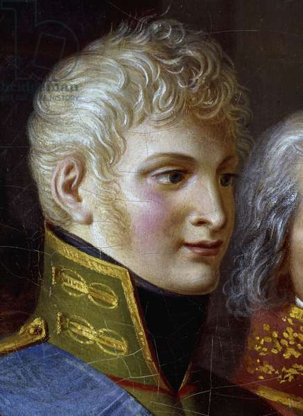 Portrait of Tsar Alexander I of Russia, detail (oil on canvas)