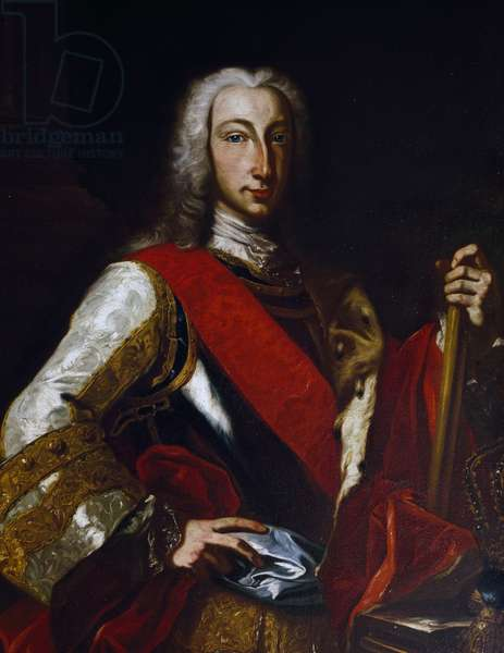 Portrait of Charles III of Bourbon (1716-1788), King of Spain, later Charles VII as King of Naples, painting by Giuseppe Bonito (1707-1789)