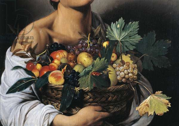 Boy with a Basket of Fruit, detail, 1593-94 (oil on canvas)