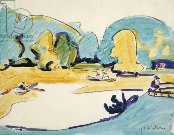 Park in Dresden, 1910, by Ernst Ludwig Kirchner (1880-1938)
