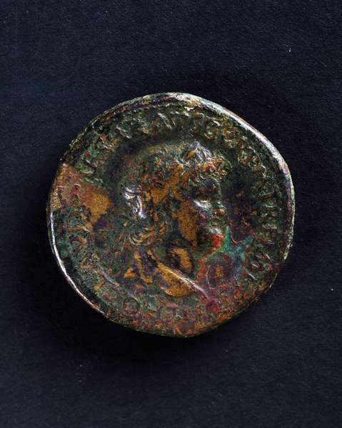 Coin bearing image of Emperor Nero, Roman coins, 1st century AD