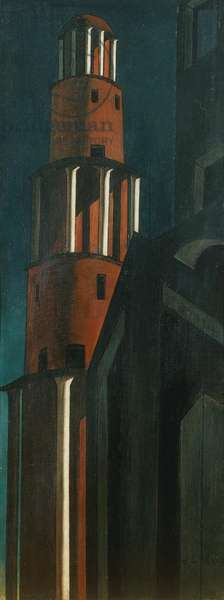 The great tower, 1913, by Giorgio de Chirico (1888-1978). Italy, 20th century.