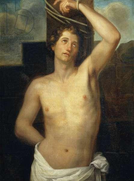 Martyrdom of St Sebastian, 1825, by Michele Chiarini (1805-1880), oil on canvas, 73x97 cm