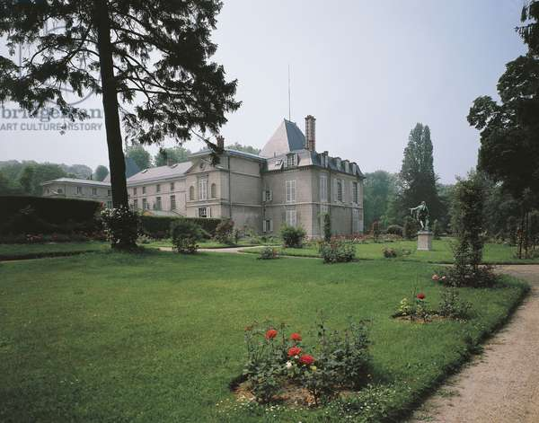 The northern wing and pavilion, Chateau de Malmaison in Rueil-Malmaison, by architects Pierre-Francois-Leonard Fontaine and Charles Percier, France, 19th century