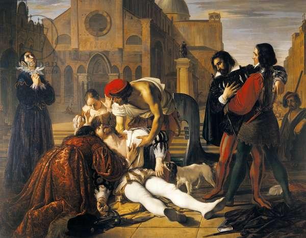 The Murder of Lorenzino de' Medici, by Giuseppe Bezzuoli, 1840
