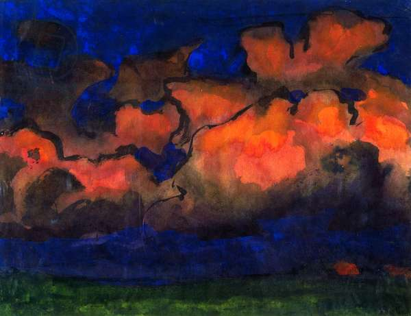 Seascape with evening clouds, 1930-1940