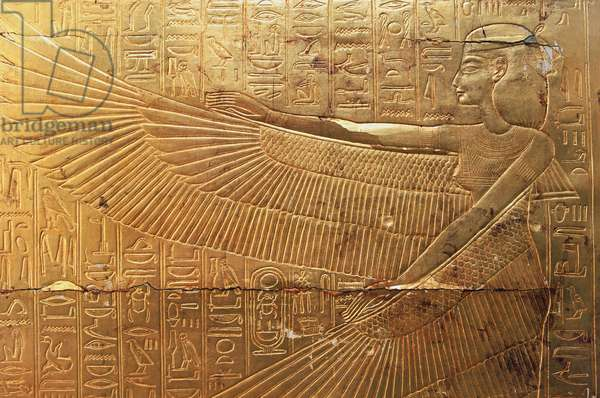Relief from rear external panel of second funeral chapel, Treasures of Tutankhamun, Egypt, Egyptian civilization, New Kingdom, Dynasty XVIII