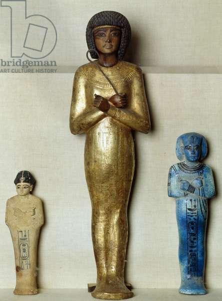 Ushabti, funerary statuettes, of Tutankhamun, from Tomb of Tutankhamun, Egyptian civilization, New Kingdom, Dynasty XVIII