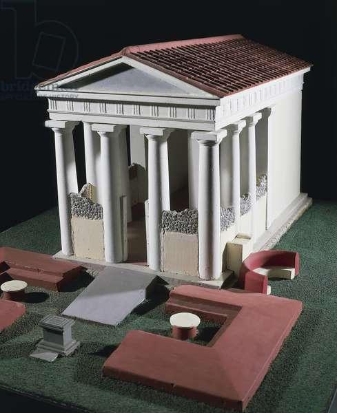 Model of Temple of Bacchus from Antiquarium, Pompeii, Campania, Italy, Roman Civilization, 1st century
