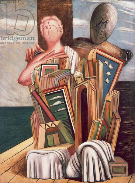 Archaeologists, 1925, by Giorgio de Chirico (1888-1978), oil on canvas. Italy, 20th century.
