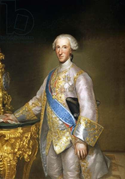 Portrait of Don Luis Antonio Jaime de Bourbon, by Anton Raphael Mengs, Circa 1774, oil on canvas, 1728-1779, 153x109 cm