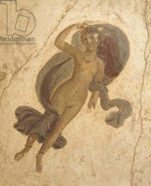 Fresco depicting Spring, from House of Lovers, Pompeii , Campania, Roman Civilization, 1st Century