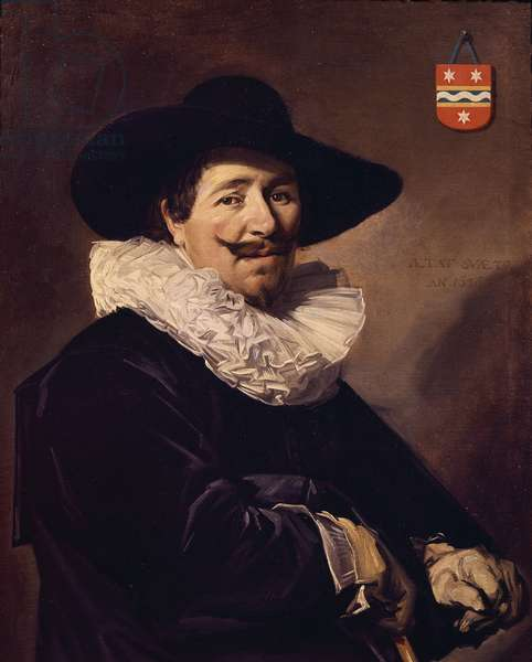 Portrait of Andries van der Horn, 1638, by Frans Hals (1581-1666), oil on canvas, 86x67 cm