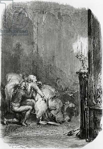 Death of Frederick the Great (1712-1786), King of Prussia, engraving by Adolph von Menzel (1815-1905)
