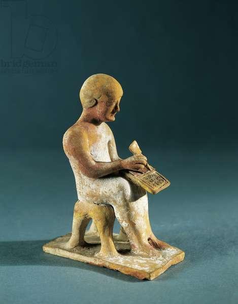 Egypt, Thebes, Writing man, circa 520-480 B.C., terracotta