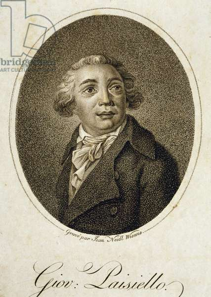 Portrait of Giovanni Paisiello (Taranto, 1740 - Naples, 1816), Italian composer