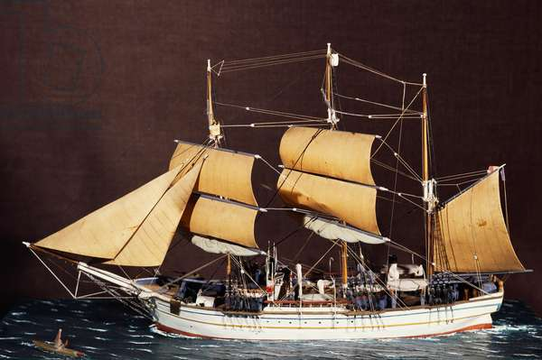 Scale model of ship Pourquoi-Pas, used by Jean-Baptiste Charcot (1867-1936) for his expedition to Greenland and Iceland, France, 20th century
