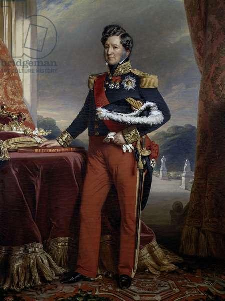 Portrait of Louis Philippe of Bourbon-Orleans (1773-1850), 1844, by Franz Xaver Winterhalter, oil on canvas, 146x114 cm