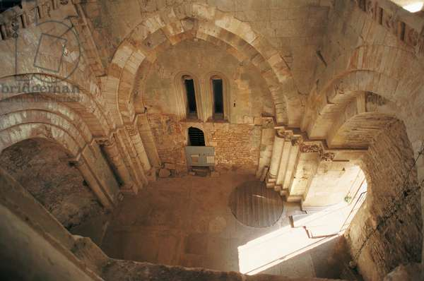 Baptistery of St John, or Tomb of Rothari, St Peter monumental complex, 12th century, Monte Sant'Angelo, (UNESCO World Heritage List, 2011), Apulia, Italy
