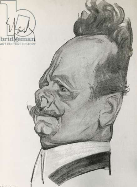 Portrait of Luigi Rasi, from The caricature and Italian comics by Luigi Rasi, Bemporad, 1907