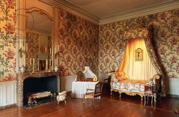 Louis XV-style room, Chateau of Vaux-le-Vicomte, 1656-1661, architect Louis Le Vau (1612-1670), built by Nicolas Fouquet, Ile-de-France, France