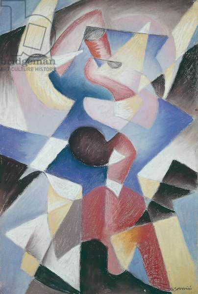 Dancer, 1912, by Gino Severini (1883-1966), oil on canvas. Italy, 20th century.