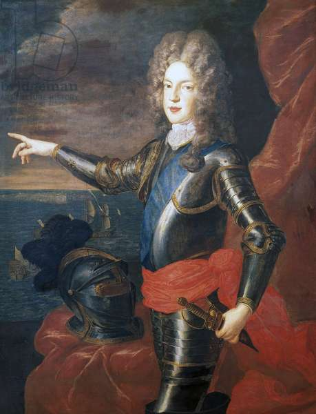 Portrait of James Francis Edward Stuart (London, 1688-Rome, 1766), Jacobite pretender to throne of England (James III) and Scotland (James VIII)