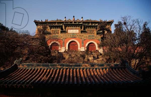 Sea of Wisdom temple (Zhihui Hai) on Longevity hill, Summer palace (Unesco World Heritage List, 1998), Beijing, China, 18th-19th century (photo)