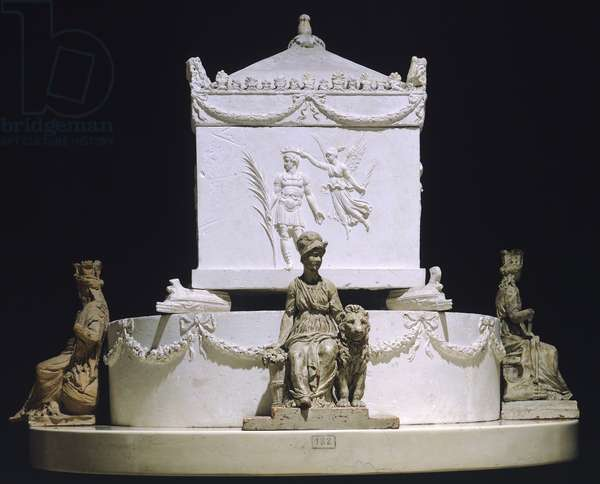 Horatio Nelson funerary monument by Antonio Canova (1757-1822), model in plaster, wax and clay, 1806