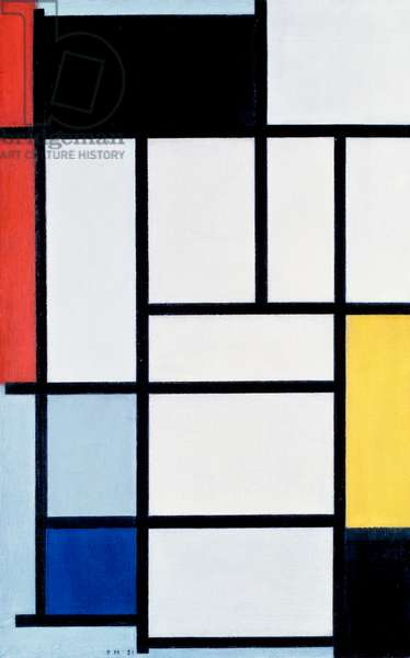 Composition with red, yellow, and blue, 1921