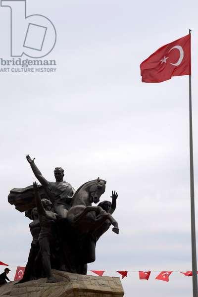 Equestrian monument to Mustafa Kemal Ataturk, Cappadocia, Turkey