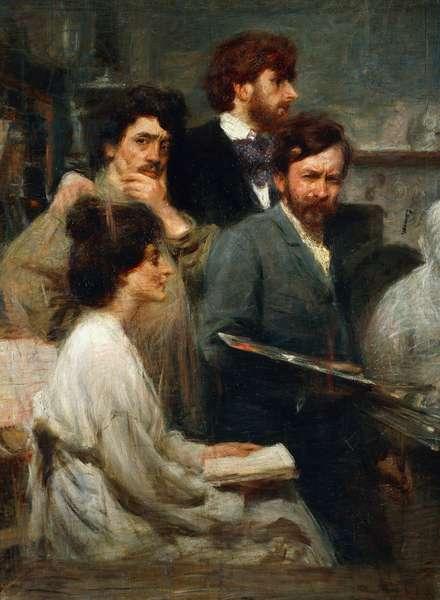 In the mirror, 1945, by Giacomo Balla (1871-1958), oil on canvas. Italy, 20th century.