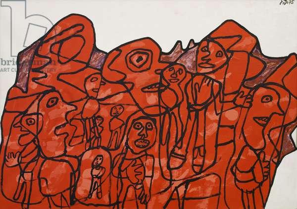Mondanite XXVII-Z 145, 1975, by Jean Dubuffet (1901-1985). France, 20th century.