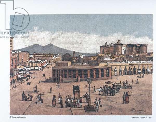 Italy, Naples, Gran Guardia, 1889 (lithograph)