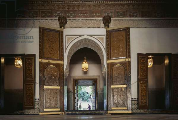 Interior of Bahia Palace, medina of Marrakesh (UNESCO World Heritage List, 1985), Morocco, 19th-20th century