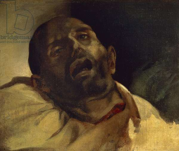 Head of guillotined man (Le guillotine), by Jean-Louis Theodore Gericault (1791-1824), oil on canvas, 40x49 cm