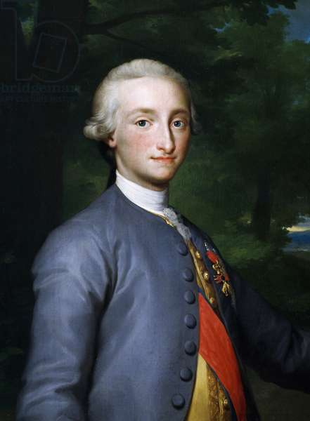 Portrait of Charles IV of Bourbon, by Anton Raphael Mengs, painting
