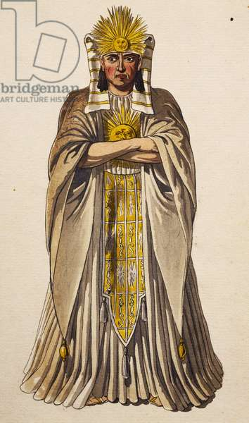 Sarastro, stage costume for Magic Flute, by Wolfgang Amadeus Mozart (1756-1791)