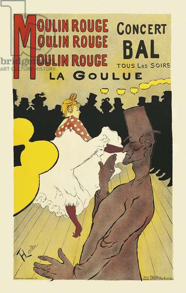 Poster for Moulin Rouge by Henri de Toulouse Lautrec (1864-1901), 1894