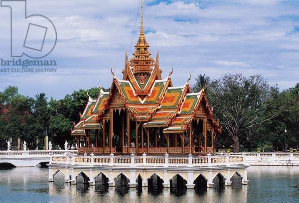 Aisawan Dhiphya-Asana, Bang Pa-In Royal Palace (or Summer Palace) of Rama V (UNESCO World Heritage List, 1991), Thailand, 17th century